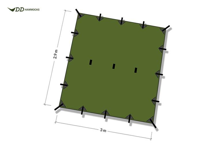 Dimensions DD Hammocks Superlight Tarp