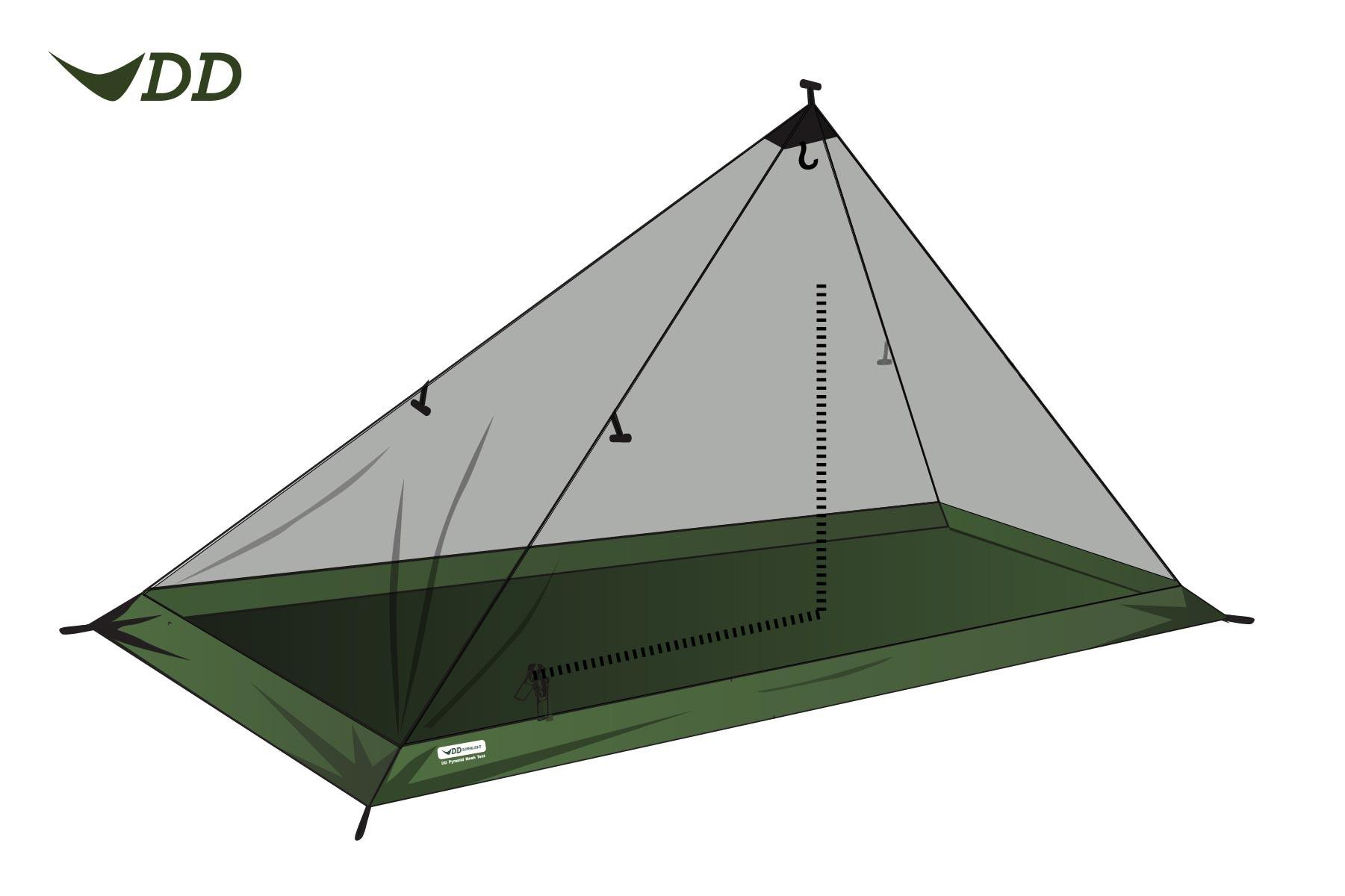 DD Hammocks Superlight Solo Mesh Tent