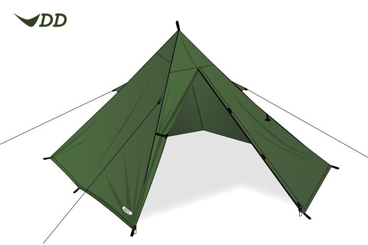 Tente tipi DD Hammocks Superlight XL Pyramid Tent