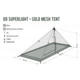 Dimensions DD Hammocks Superlight Solo Mesh Tent