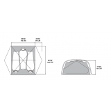 Dimensions Tente Mountain Hardwear Mineral King 2
