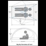 Dimensions Tente Big Sky Revolution 2P