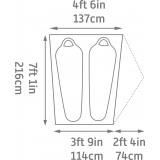 Dimensions Tente Kelty Late Start 2
