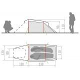 Dimensions Tente Vaude Arco 2P