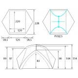 Dimensions Tente Camp Minima 2 Pro
