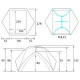Dimensions  Tente Camp Minima 3 Pro