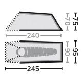 Dimensions Eureka Solitaire Aluminium