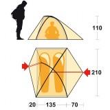 Dimensions tente Ferrino Flare 2