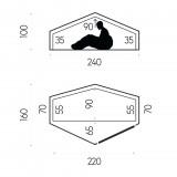 Dimensions Fjällräven Abisko Lite 1