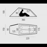 Dimensions tente Fjällräven Abisko Lite 2