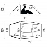 Dimensions Fjällräven Abisko Lite 3