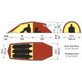 Dimensions Hilleberg Nallo 3 GT
