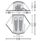 Dimensions Eureka Airstream 2 SUL
