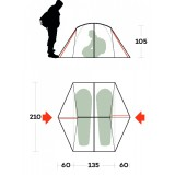 Dimensions Tent Ferrino Grit 2
