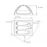 Dimensions  tente Mountain Hardwear Optic 3.5