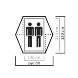 Dimensions Tente Salewa Denali II