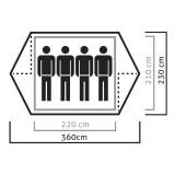 Dimensions Tente Salewa Denali IV