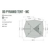 Dimensions Tente tipi DD Hammocks Pyramid Tent MC