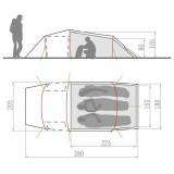 Dimensions Vaude Arco XT 3P