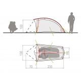Dimensions Vaude Hogan SUL 2P