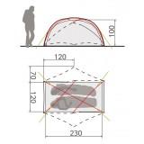 Dimensions Vaude Invernio SUL 2P