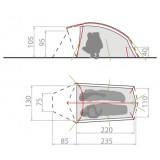 Dimensions Vaude Taurus UL 2P