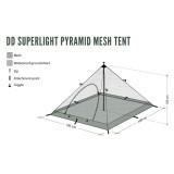 Dimensions Abri DD Hammocks Superlight Pyramid Mesh Tent