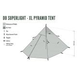 Dimensions Tente tipi DD Hammocks Superlight XL Pyramid Tent